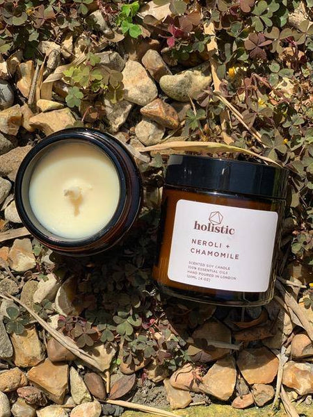 Neroli + Chamomile Vegan Scented Soy Wax Candle 120ml - Mood Essential Oils