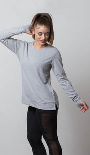 Boston Crisscross Back Sweatshirt