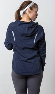Seattle lightweight jacket navy back view