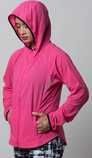 Seattle Lightweight Jacket pink hood