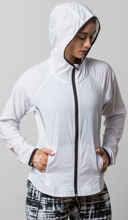 Seattle Lightweight Jacket white hood
