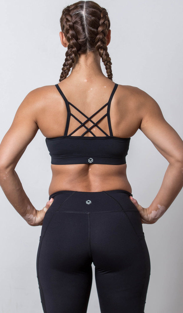 Chloe Sports Bra black back view