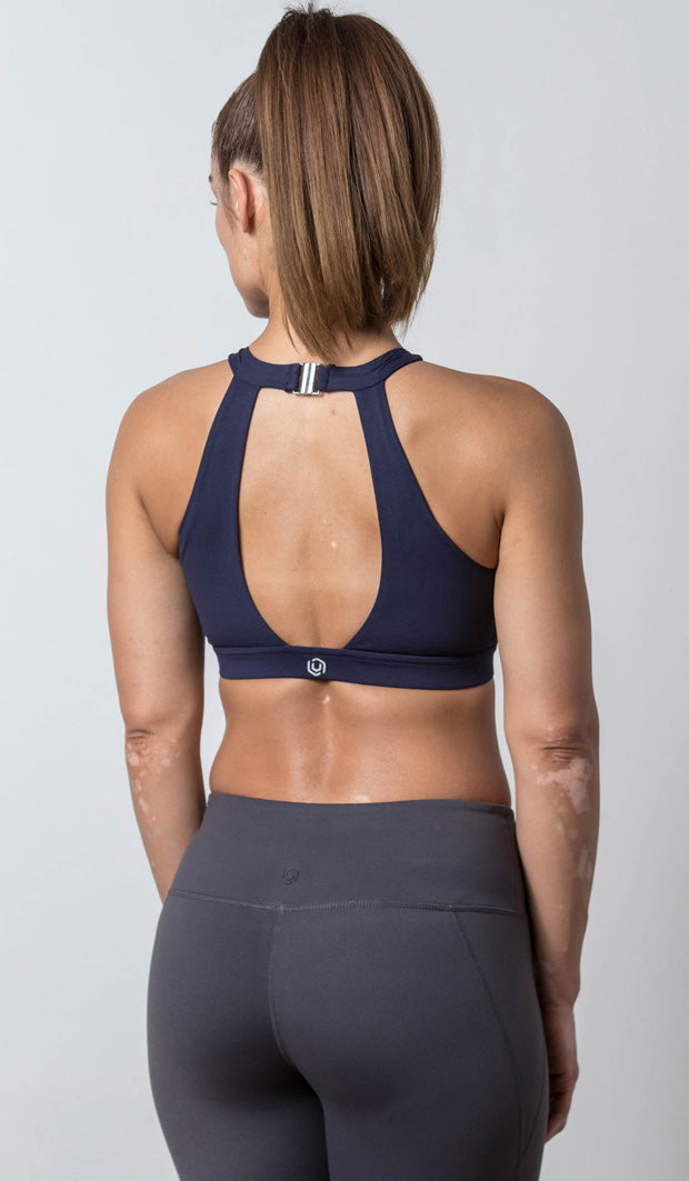 Lauren Halter Sports Bra navy back view