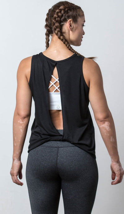 Tallahassee Open-Back Tank black back view