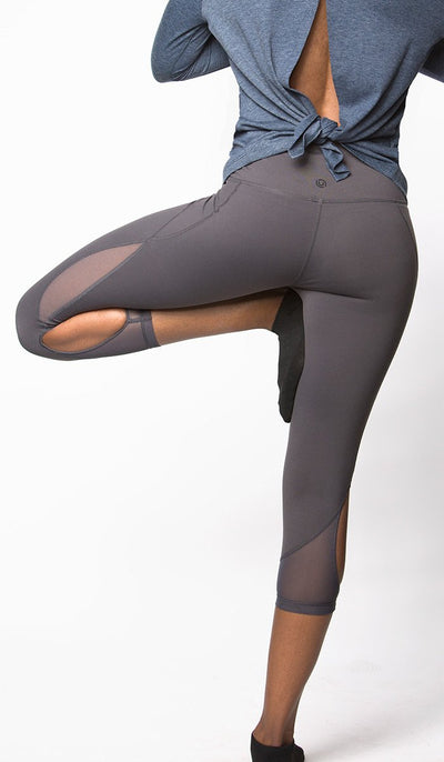 Venice Mesh Capri Legging - unfnshd workout apparel