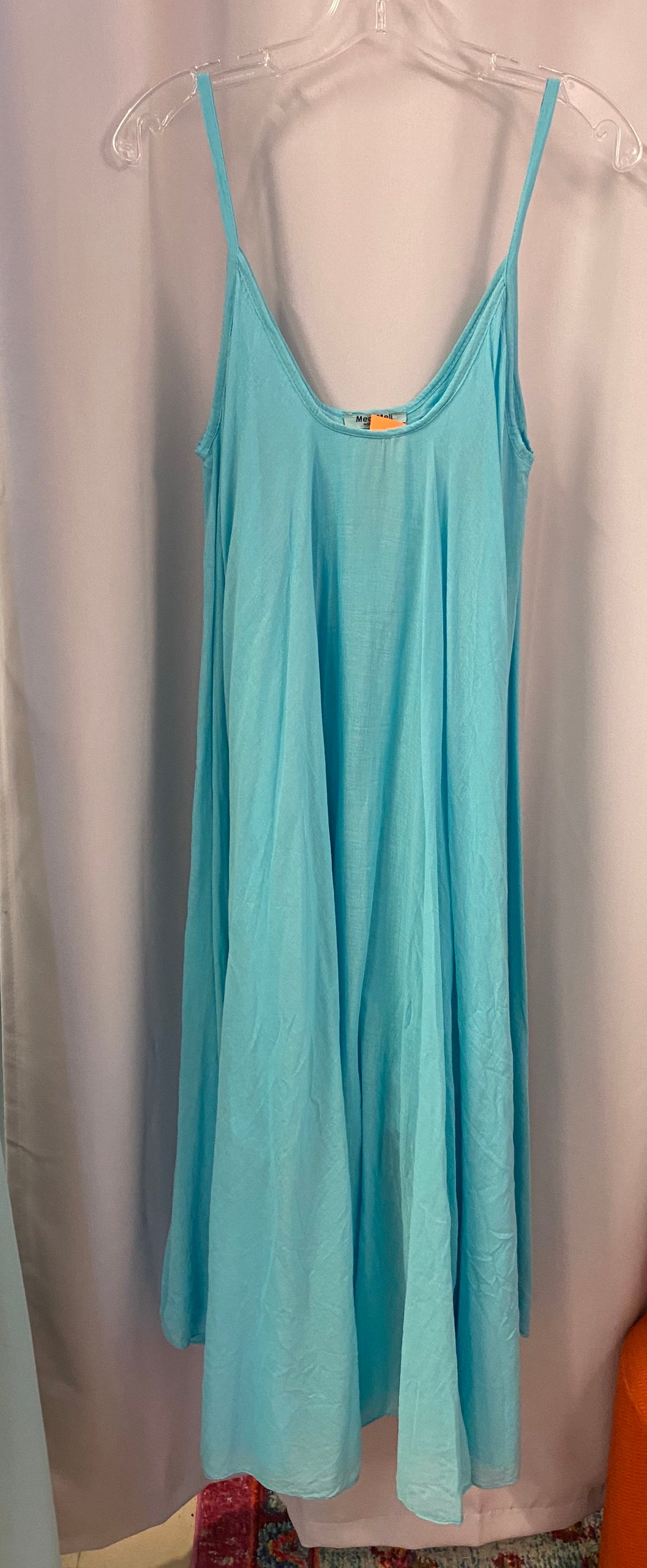 Cotton Swing Maxi Dress in Mint