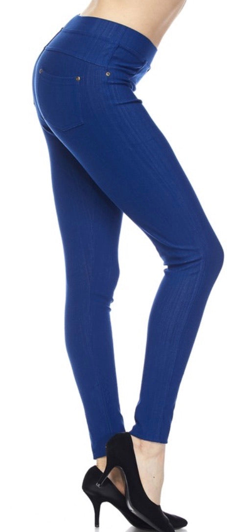 Jeggings in Ankle Length in Royal Blue