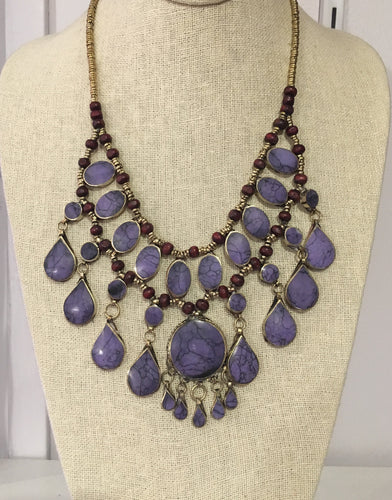 Jafar Necklace in Purple