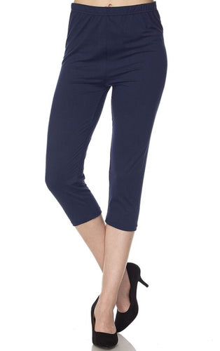 Capri Leggings in Navy