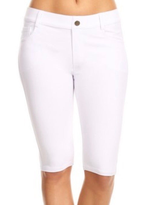 Jegging Shorts in White