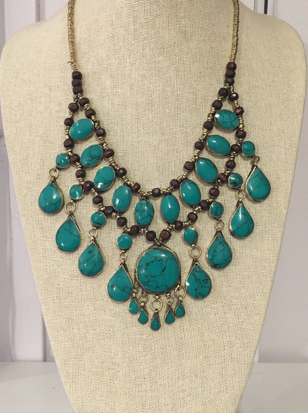 Jafar Necklace in Jade Green