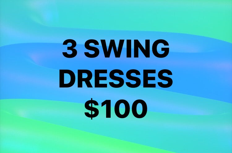3 Swing Dress with Pockets