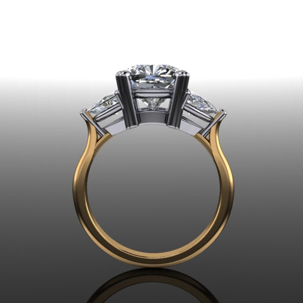 Bespoke Trillion Setting for 3ct Cushion
