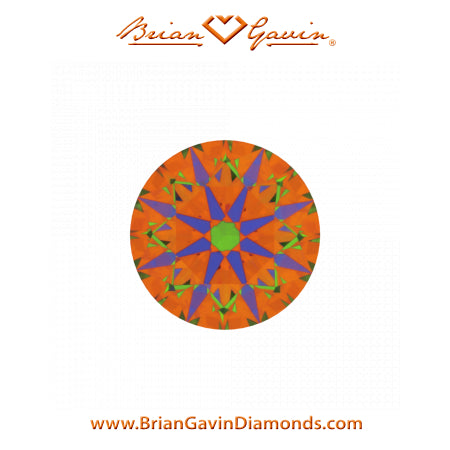 1.07ct H VS2 Brian Gavin Diamond Hearts & Arrows Round Brilliant Cut