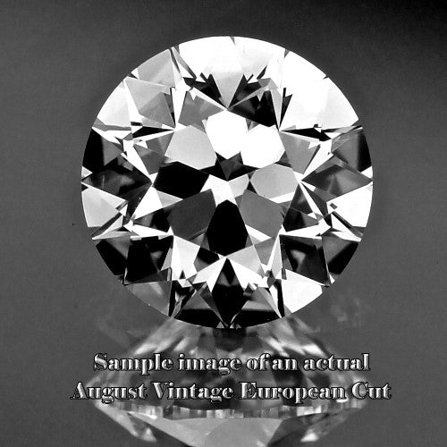 0.51ct F SI1 August Vintage European Cut