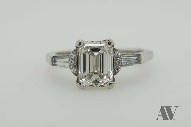 Preloved 2.01ct Emerald Cut in Tacori Engagement Ring