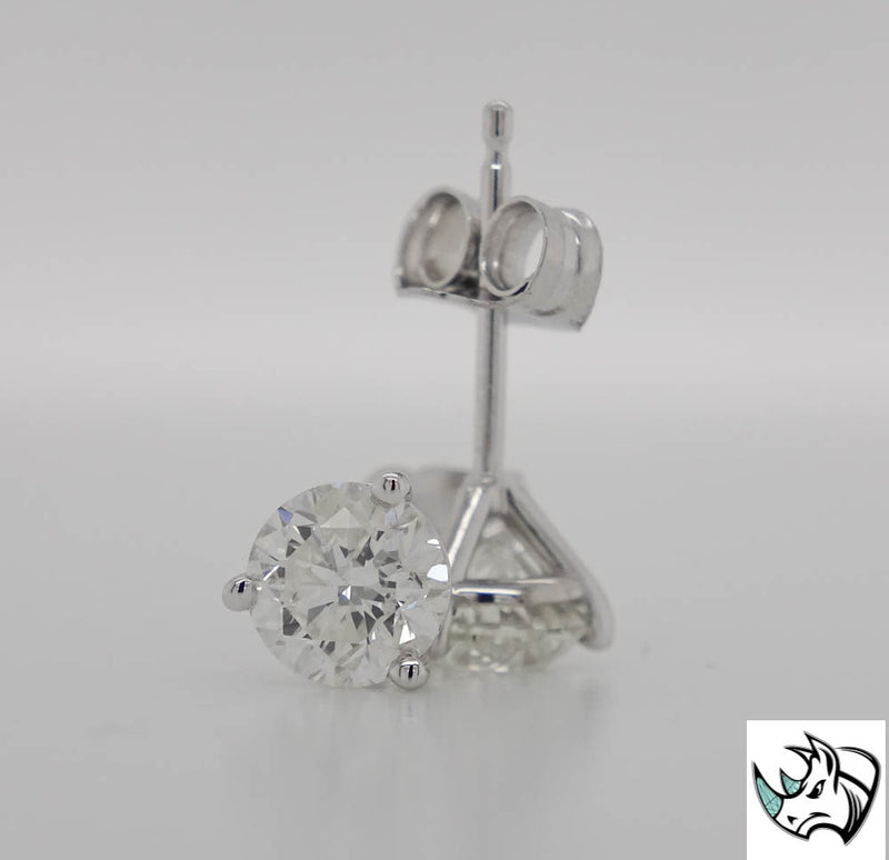 .83cttw Lab Grown Diamond Stud Earrings F/G SI1