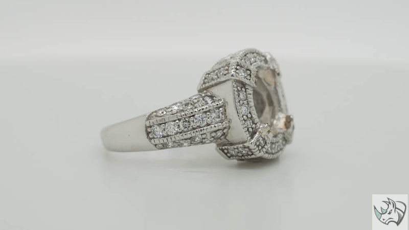 Pre-loved Platinum diamond ladies cocktail ring