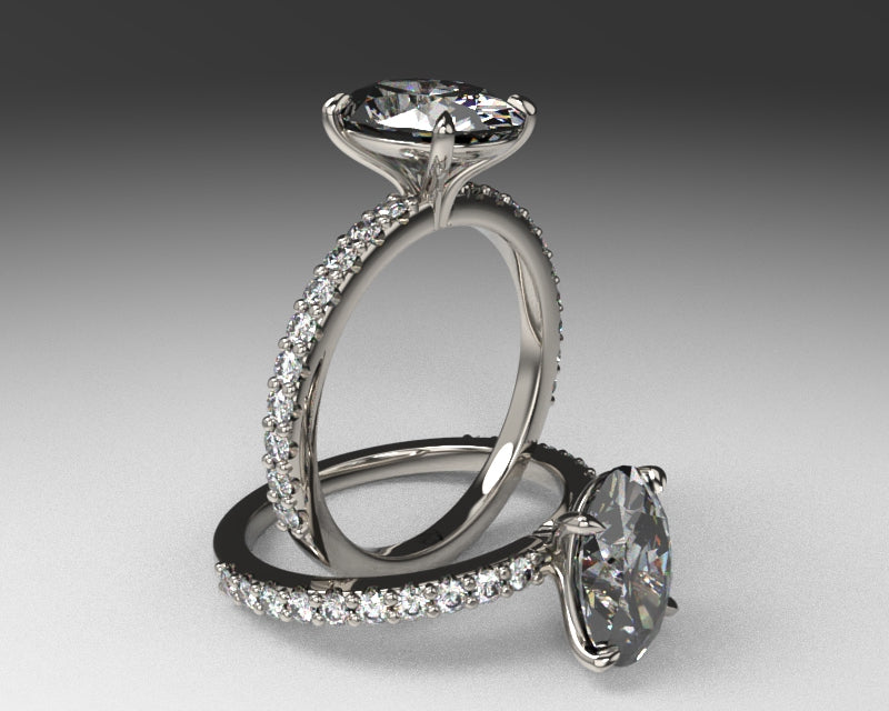 Signature Shared Prong Setting with lab grown diamonds