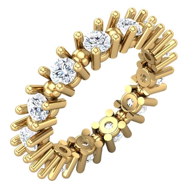 ladies moissanite eternity band