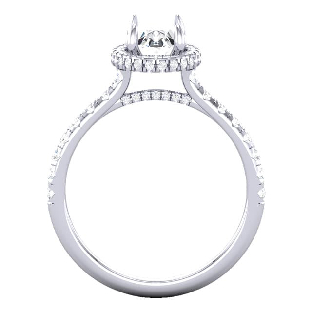 3d Split Prong Cathedral Halo