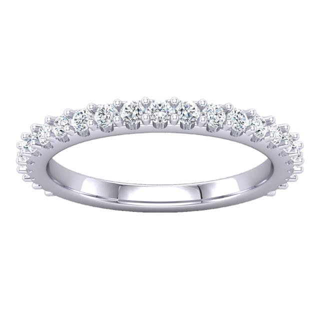 Amy's Signature Shared Prong Hidden Halo Setting with lab grown diamonds