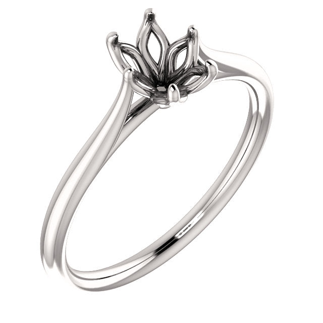 6 prong solitaire Engagement Ring Mounting