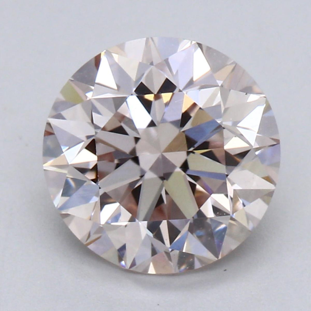 1.50ct L VS1 Lt Pink Round Brilliant Cut Lab Grown Diamond
