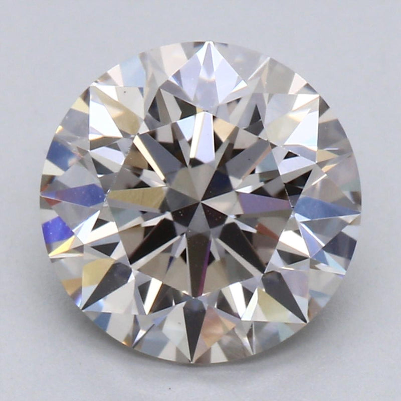 1.63ct K VS2 Brownish Pinkish Undertones Round Brilliant Cut Lab Grown Diamond