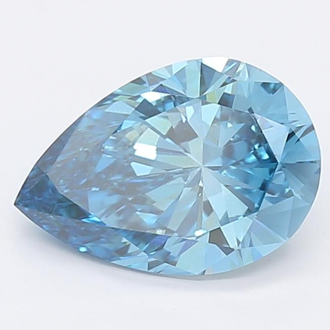 2.06ct Fancy Vivid Blue Distinctive Pear Lab Grown Diamond
