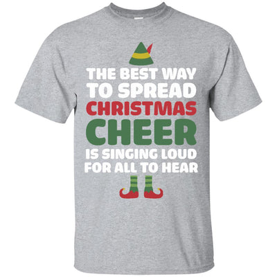 Black Cotton T-Shirt - Best Way to Spread Christmas Cheer Graphic ...