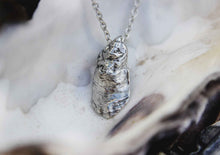 Elongated Oyster Shell Pendant