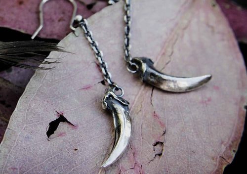 Fox Claw Drop Earrings