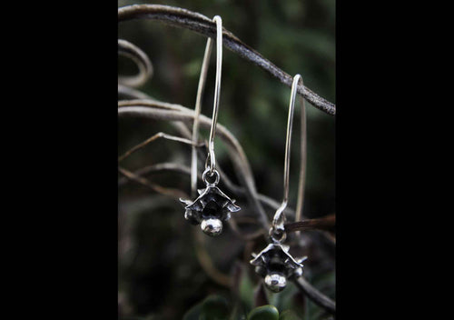 Oxidised Vertebrae Drop Earrings