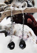 Lough-Found Shell Drop Earrings with Black Seed Pearl