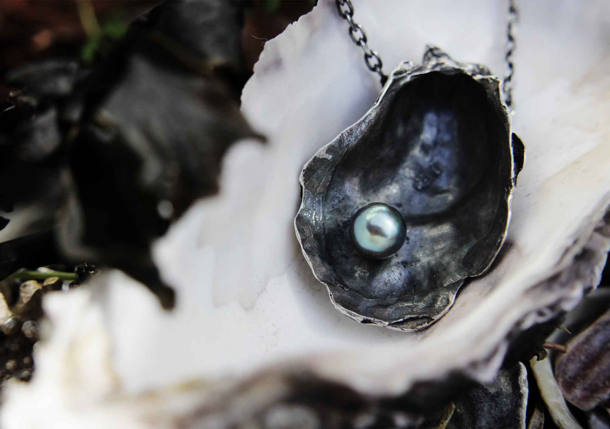 Oyster Shell Pendant with Akoya Pearl