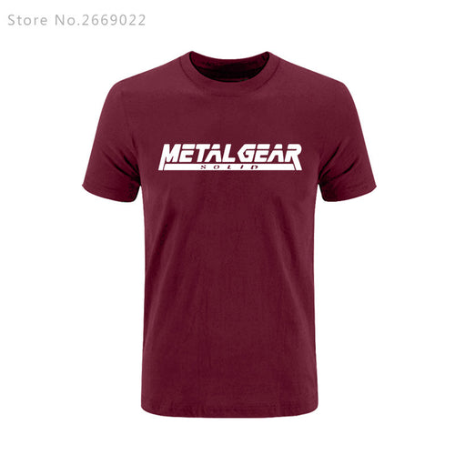 Metal Gear Solid Letter Printed T-shirt