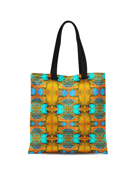 Abstra Autumn Butterfly Printed Canvas Tote