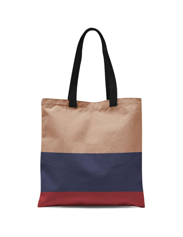 Abstra Colored Stripes Canvas Tote