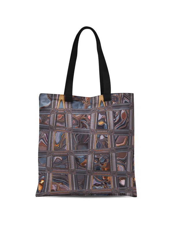 Abstra Floral Grid Canvas Tote