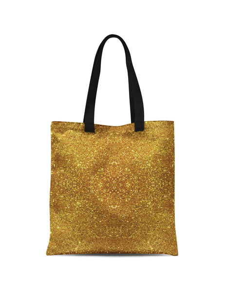 Abstra Gold Glitter All Over Print Tote