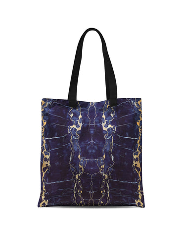 Abstra Blue Marble Canvas Tote
