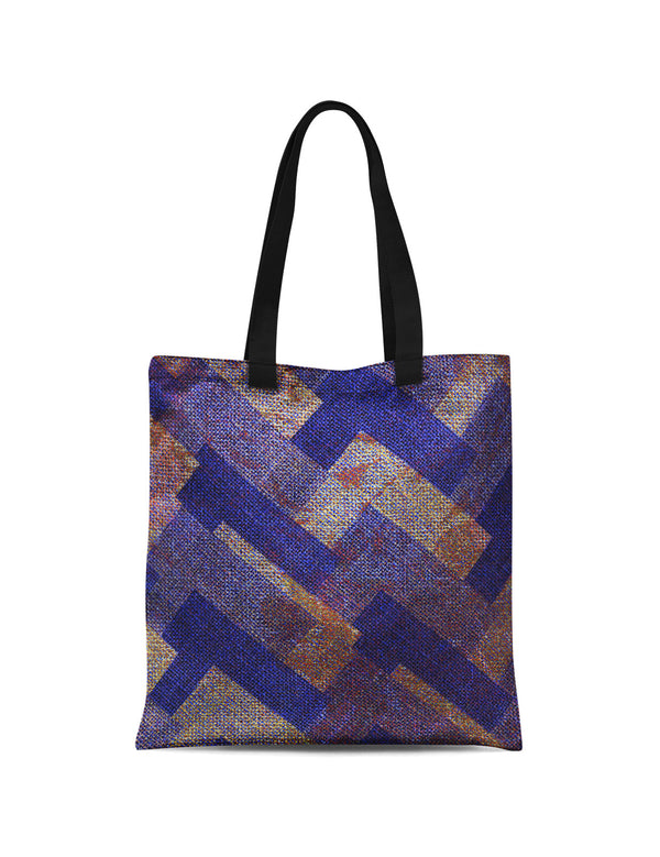 Abstra Maze - Blue Canvas Tote Bag