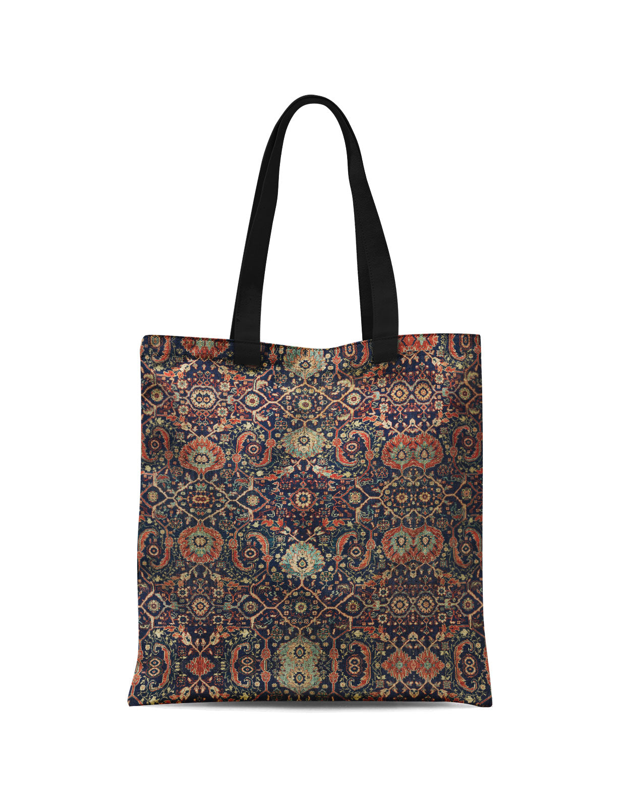 Abstra Oriental - Red Floral Patterns Canvas Tote