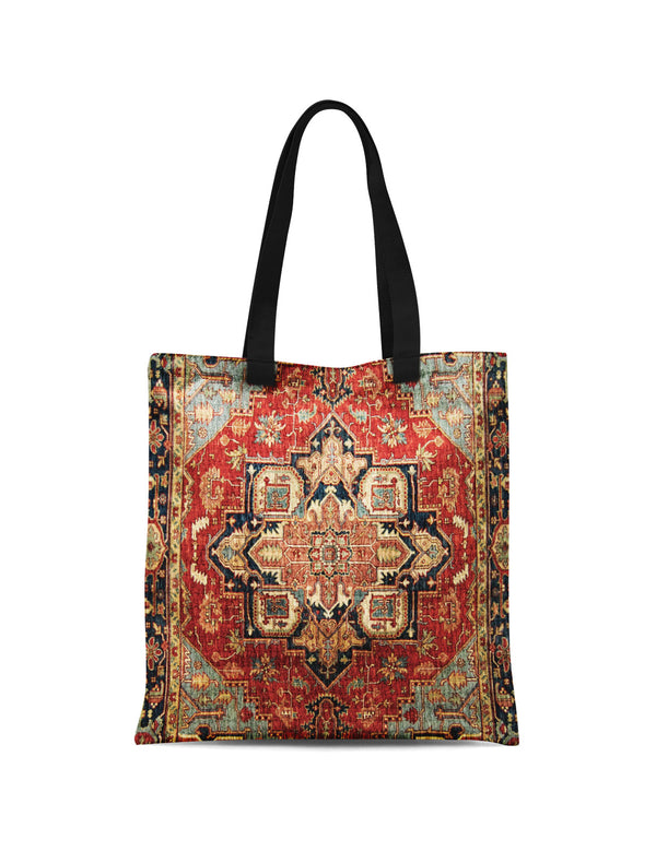Abstra Oriental - Golden Star Printed Canvas Tote