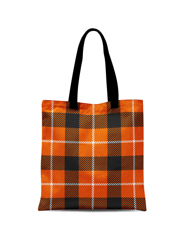 Abstra Squares - Orange Canvas Tote