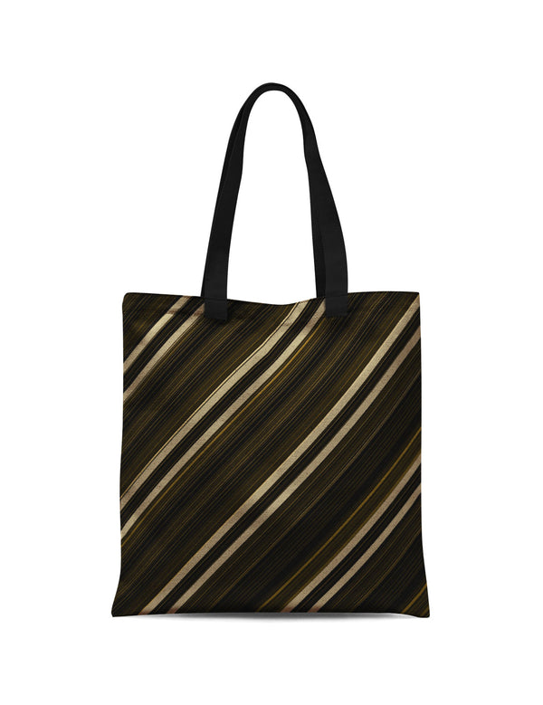 Abstra Stripes - Golden Canvas Print Tote