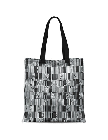 Abstra Verticals Canvas Tote
