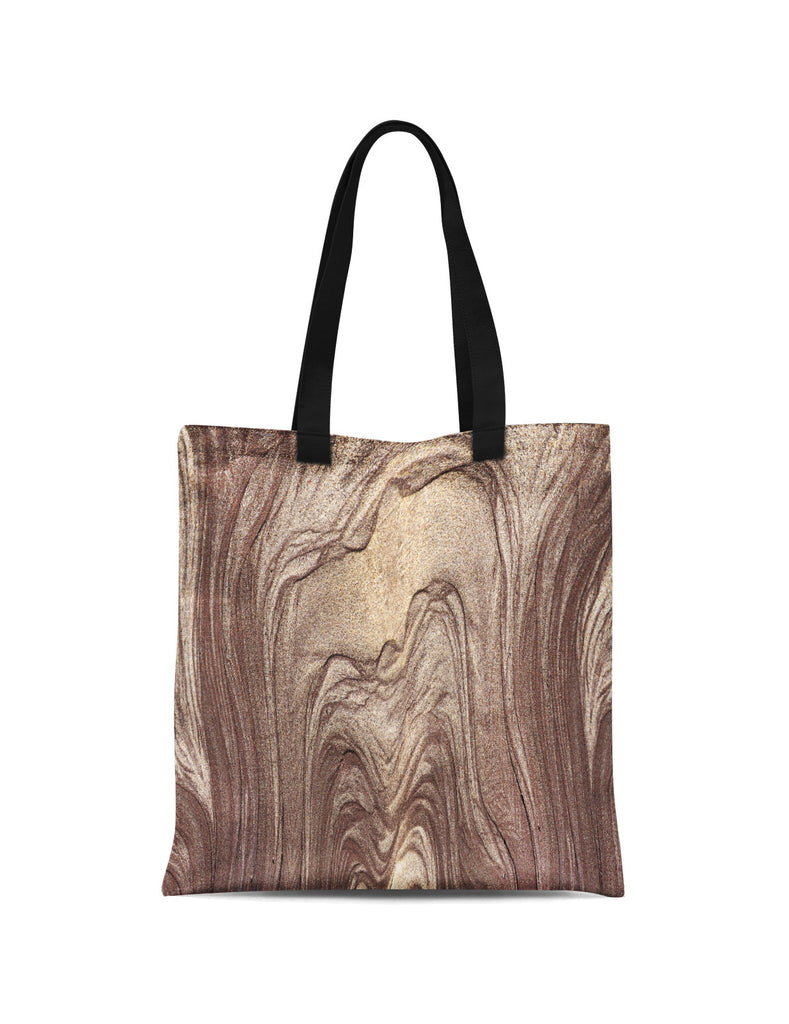 Abstra Volcano Gold Printed Canvas Tote