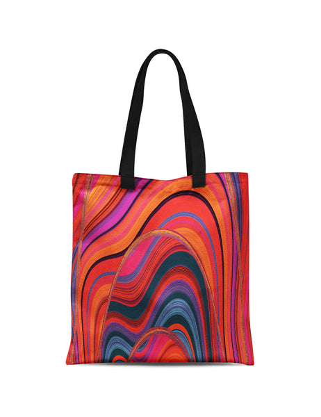 Abstra Volcano Printed Canvas Tote